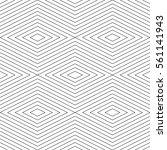 thin line seamless vector... | Shutterstock .eps vector #561141943