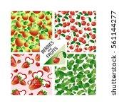 vector set of seamless patterns ... | Shutterstock .eps vector #561144277
