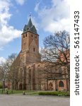 partly destroyed gothic church  ... | Shutterstock . vector #561147433