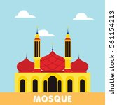 mosque building icon vector. | Shutterstock .eps vector #561154213