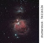 The Orion Nebula, M42 - stock photo