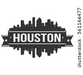 houston skyline stamp... | Shutterstock .eps vector #561166477