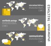 flat logistics concept of...   Shutterstock .eps vector #561170413