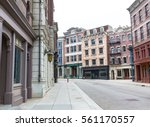 empty street of the old town   Shutterstock . vector #561170557