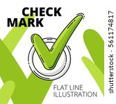 check mark. colored flat line... | Shutterstock .eps vector #561174817