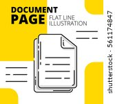 document page. colored flat... | Shutterstock .eps vector #561174847