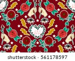 seamless valentines day pattern.... | Shutterstock .eps vector #561178597