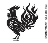 fire rooster chinese new year... | Shutterstock .eps vector #561181453