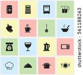 set of 16 kitchen icons....