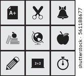 set of 9 education icons....