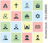 set of 16 faith icons. includes ...