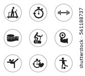 set of 9 healthy icons....