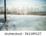 snow on coast road along the... | Shutterstock . vector #561189127
