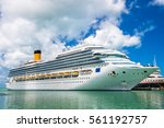 large luxury cruise ship disney ... | Shutterstock . vector #561192757