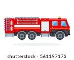 fire engine vector flat... | Shutterstock .eps vector #561197173