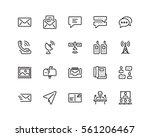 communication icon set  outline ...   Shutterstock .eps vector #561206467
