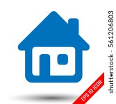 home icon. simple flat logo of...