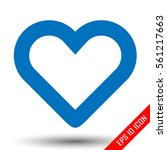 heart icon. simple flat logo of ...