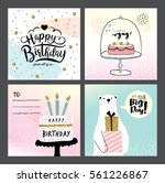 set of birthday greeting cards | Shutterstock .eps vector #561226867