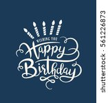 birthday card with lettering... | Shutterstock .eps vector #561226873