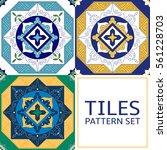 set of 3 different tile pattern ...   Shutterstock .eps vector #561228703