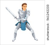 knight. paladin with armor and... | Shutterstock .eps vector #561242233