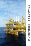 oil and gas platform in the... | Shutterstock . vector #561249433