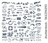 arrow web icon vector... | Shutterstock .eps vector #561254293