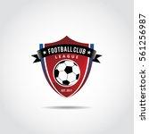 football club logo template.... | Shutterstock .eps vector #561256987