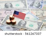 us flag sign and dollar cash... | Shutterstock . vector #561267337