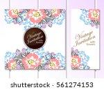 vintage delicate invitation... | Shutterstock .eps vector #561274153