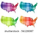 american map | Shutterstock .eps vector #56128387