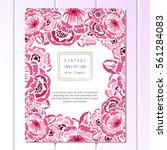 romantic invitation. wedding ...   Shutterstock .eps vector #561284083