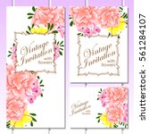 romantic invitation. wedding ... | Shutterstock .eps vector #561284107