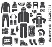 winter sports clothes and...   Shutterstock .eps vector #561287743
