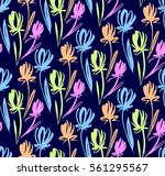 floral seamless background... | Shutterstock .eps vector #561295567