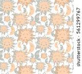 sun and moon vector face...   Shutterstock .eps vector #561299767
