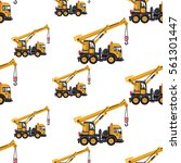 seamless pattern with truck...   Shutterstock .eps vector #561301447