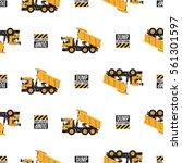 seamless pattern with dumper...   Shutterstock .eps vector #561301597