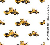 seamless pattern with road...   Shutterstock .eps vector #561301717