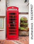 traditional british red... | Shutterstock . vector #561309907