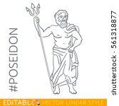 poseidon. god of the sea ... | Shutterstock .eps vector #561318877
