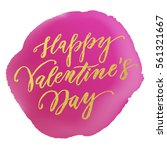 vector gold valentine day text... | Shutterstock .eps vector #561321667