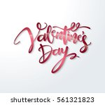 happy valentines day lettering... | Shutterstock .eps vector #561321823