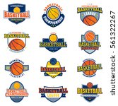 colored basketball badges and... | Shutterstock .eps vector #561322267