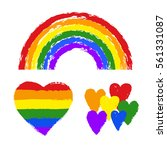 vector gay pride design... | Shutterstock .eps vector #561331087