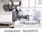 the sewing machine buttonhole... | Shutterstock . vector #561333373