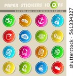 job search vector icons for... | Shutterstock .eps vector #561334327