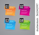 vector infographic design.... | Shutterstock .eps vector #561342997