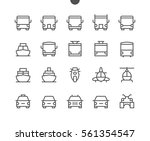 transport front view outlined... | Shutterstock .eps vector #561354547